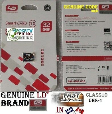 Genuine LD Brand 32GB 32 gb Micro Sd card TF Flash Memory Class10 MicroSd UHS-1.