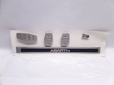 New Genuine Fiat 500 Abarth Alloy Sports Pedals Pedal Covers Kit Door Sills