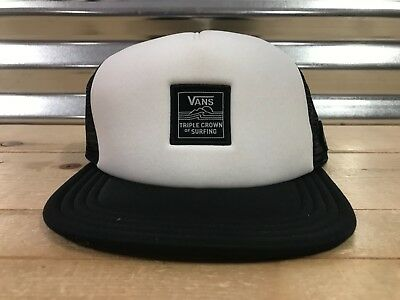 1ba6adf7 Vans 2019 Triple Crown of Surfing Snapback Trucker Hat White ( VN0A45BQYB2 )