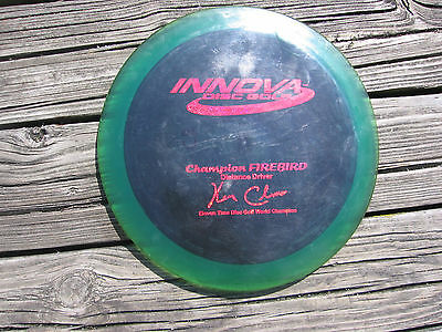 Champion Firebird 11X Ken Climo Blue Flat Top Golf Disc 168gm Nice used disc