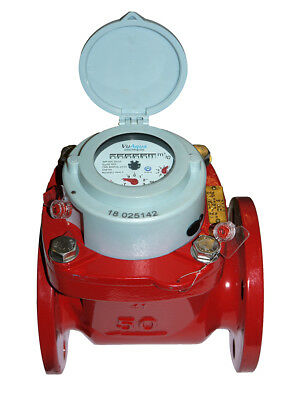 """2"""" DN50 Woltmann Helix style hot water meter. MID class 2, pulse output option"""