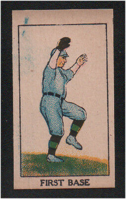 1919 W552 Mayfair Novelty Positions Drawings Baseball Strip Card - First Base