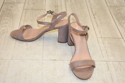 44292e20cf1 BCBGeneration Becca MicroSuede Ankle Strap Sandals