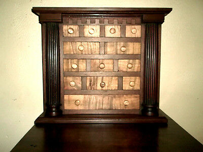 Last Chance! Tiger Maple / Walnut. Apothecary Chest/ Cabinet. Dovetailed Drawers