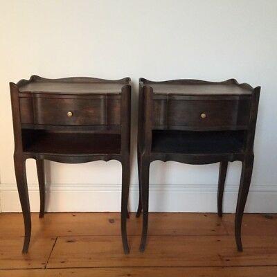French vintage pair of bedside tables