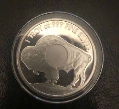 1 Troy Ounce .999 Fine Silver Bullion Smi Buffalo Bu