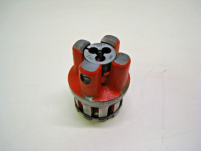 "Ridgid 1/4"" - 20 UNC 00-RB Bolt Threading Die Head Complete Used Free Shipping"
