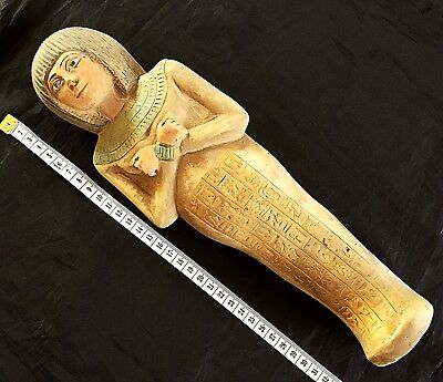 Very Rare Ancient Giant Egyptian Stone Shabti Ushabti 1560-1530 BC x 32 Cm luxor