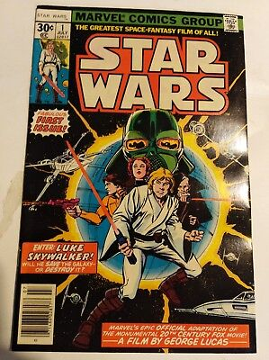 Star Wars #1 (7/77)  30 Cent Cover 1st Print Marvel Comics 1977 VF