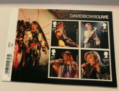 Royal Mail Stamps 2017 David Bowie Live Minisheet MS3939 with Barcode MNH