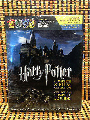 Harry Potter Complete 8 Film Collection (8-Disc Blu-ray)+Slipcover.JK Rowling