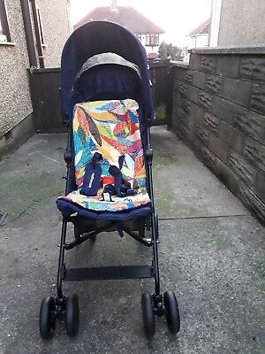 Mothercare Nanu stroller pushchair, Navy blue colour, used but in mint condition