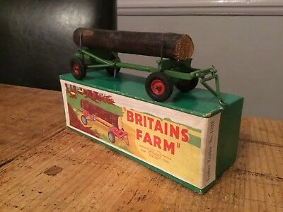 Britains No129F Model Farm Series Timber Trailer,original Box,excellent Cond'