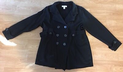 Womens Motherhood Maternity Size Large Black Peacoat