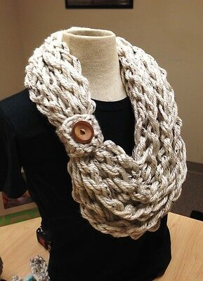 Kay's Crochet Your Own Rope Scarf Kit Hand Crochet Scarf Kit DIY Crochet Kit