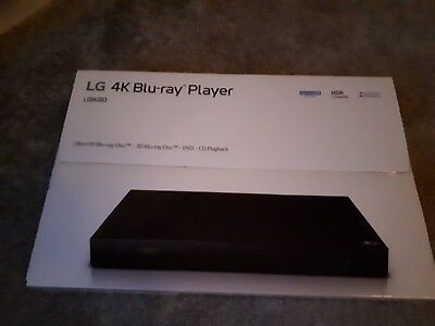 LG 4K Blu ray player. Still in manufacturers sealed box .  UBK80