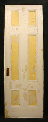 "28""x81""x1.75"" Antique Vintage Interior Solid Wood Wooden Door 6 Recessed Panels"