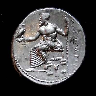 Alexander the Great. Lifetime Issue. Stunning Drachm. Ancient Greek Silver Coin.