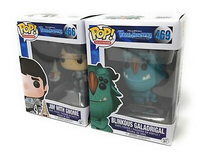 Funko Trollhunters Pop Figures Lot of 2 - Blinkous and Jim with Gnome