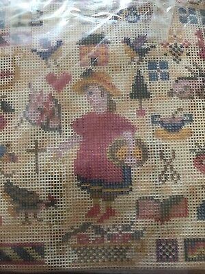 EHRMAN Wool Tapestry Kit AMERICAN LOVE SAMPLER by Candace Bahouth. Immaculate.