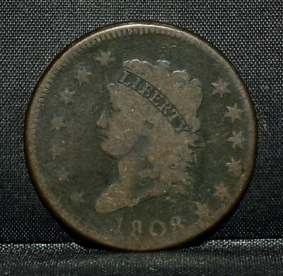 1808 Classic Head Large Cent ✪ Vg Very Good ✪ 1C L@@k Now Choice Coin ◢Trusted◣