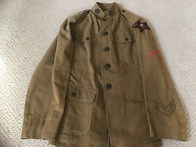 Ww1 Us Army 76Th Infantry Division Tunic W/ Very Rare Patch
