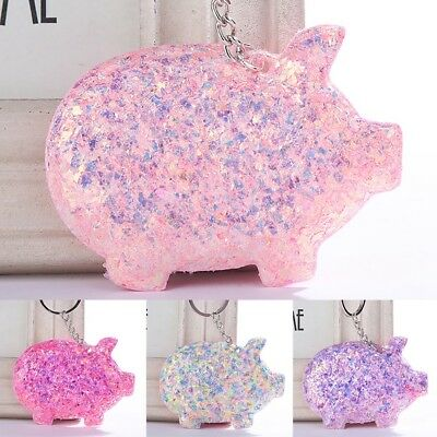 Cute Pig Shape Pendant Key Chain Ring Bag Kawaii Decoration Keyring Keychain New