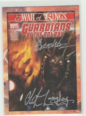 Guardians Of The Galaxy Dual Autograph Signed Comic Cover Card Gg-Wl Walker