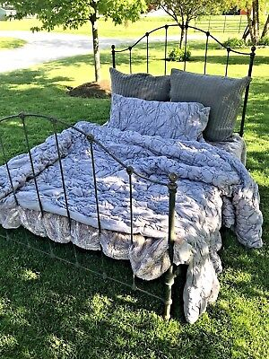 Antique Victorian Cast Wrought Iron Bed