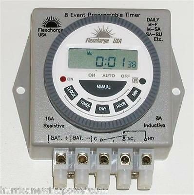 Flexcharge PRGTMR12V Real Time Programmable Digital Timer 12V