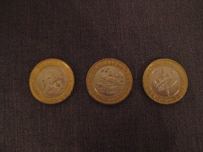 Rare Full Set of Shakespeare 2 pound coins.