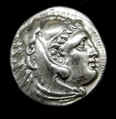 Alexander the Great. Rare Drachm. Posthumous Issue. Greek Silver Coin.