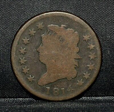 1814 Classic Head Large Cent ✪ Good G Details ✪ 1C L@@k Now Damaged ◢Trusted◣