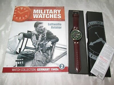 Eaglemoss Military Watch Luftwaffe Aviator World War Ii Issue 2 Collectors Watch