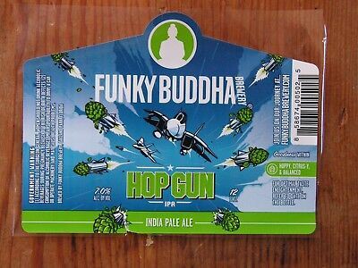 Funky Buddha Brewery Bottle Label Sticker ~NEW! Craft Beer Brewing Co. Decal~