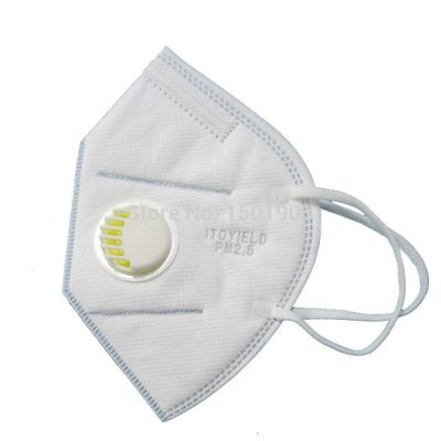 5PCS N95 Vertical Folding Nonwoven Valved Dust Mask Mouth Mask PM2.5 Disposable