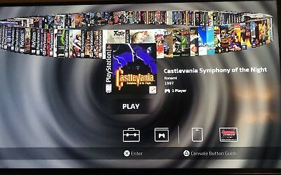 Playstation Classic 120 Game USB Drive Modded 128gb