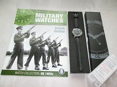 EAGLEMOSS MILITARY WATCH BRITISH SOLDIER ARMY 1950s ISSUE 8 COLLECTORS WATCH
