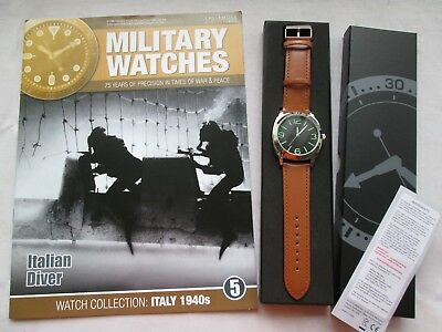 EAGLEMOSS MILITARY WATCH ITALIAN NAVY DIVER 1940s ISSUE 5 COLLECTORS WATCH
