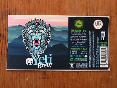 Mobcraft Beer Inc. Bottle Label Sticker ~NEW! Craft Brewery Brewing Co. Decal~