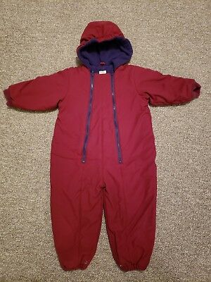 Baby Gap Snow Pants Boys Girl Size 24-36 months Red Ski Snowsuit Coverall
