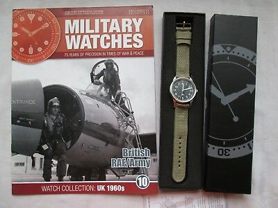 EAGLEMOSS MILITARY WATCH BRITISH RAF / ARMY 1960s ISSUE 10 COLLECTORS WATCH