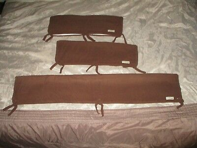 Trend Lab Crib Wrap Brown 3PC - 2 Side Rail Covers & 1 Front Cover