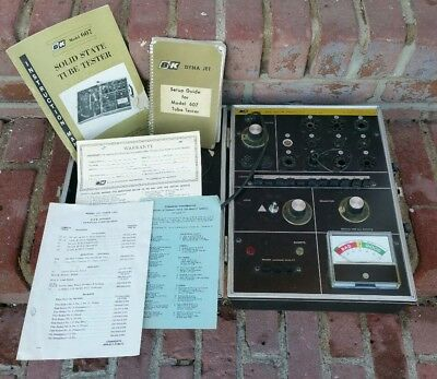 Vintage B&K Model 607 Solid State Tube Tester w/Manuals & Case & Booklet NICE!!!