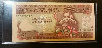 Ethiopia 10 Birr (2008) - Woman/Tractor/Plow/ - sleeved