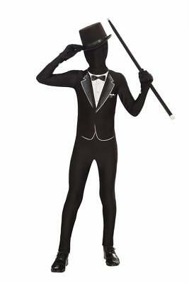Disappearing Man Stretch Costume Jumpsuit Teen: Formal Tux One Size Fits Most