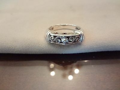 # 332-Vintage Sterling Silver Ring-925--Size-7-Nice