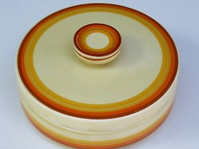 Rar ! CLARICE CLIFF Bizarre Cream Cheese Odilon NEWPORT Pottery ART DECO Stripes
