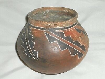 Antique Native American Indian Red Clay Salado Pottery