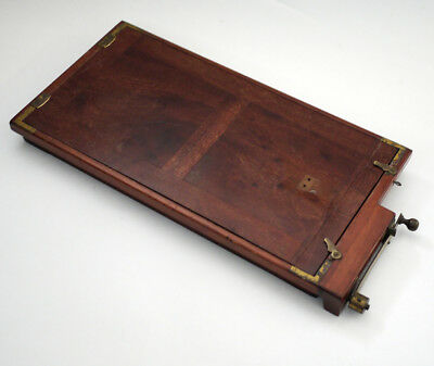 Antique Large Stereo Twin Film Plate Holder - Mahogany
